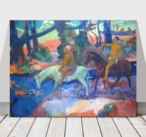 "PAUL GAUGUIN - Horse Riders - CANVAS ART PRINT POSTER - 36x24"""