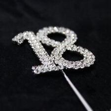 Numero 18 Strass Gemma Diamante Decorazione Torta PICK numero topper compleanni