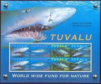 WWF - KLEINBOGEN - Tuvalu - Sandtigerhai shark - 2 Sätze - perfekt **/MNH