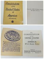 Vintage 1940 Constitution of the United States of America American System Series