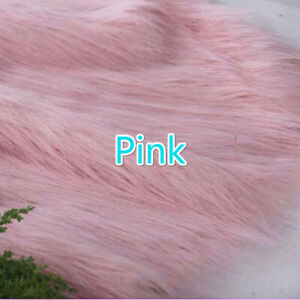 Luxury Long Haired Faux Fur Fabric Pile Plush Puffy Costumes Display Background