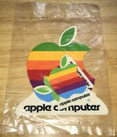 1984 MACINTOSH 128K SEALED SET of 4 Apple Rainbow Logo STICKERS! Mac M0001 RARE!