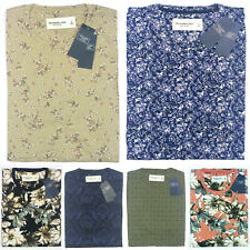 Abercrombie & Fitch T-Shirt Crew neck Short Sleeve Floral Geometric Damask