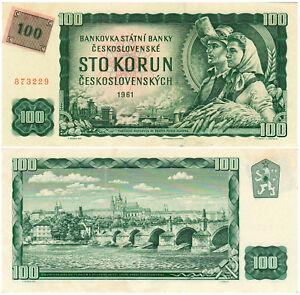 Czechoslovakia 100 Korun Československých P#91c (1961) Státní Banka AUNC