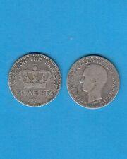 gertbrolen  Grèce 50 Lepta en argent  1874  Roi Georges Silver Coin