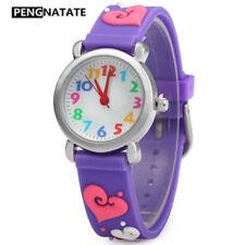Children Watch For Girls 3D Strap Silicone Bracelet Wristwatch Kids Watches Gift