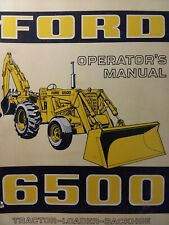 Ford Industrial 6500 Diesel Tractor Loader Backhoe Owners Manual Construction