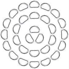 eBoot 50 Pack Metal D Ring 1 Inch Welded Rings Craft Supplies