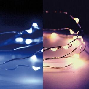 10er-100er Micro LED Draht Lichterkette Wasserdicht mit Batterie Mini