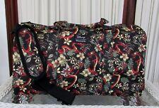 Disney Loungefly Mulan Mushu Floral Weekender Duffle Travel Bag NWT