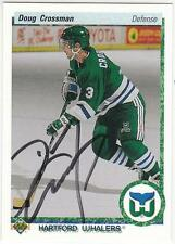DOUG CROSSMAN Autographed Signed 1990-91 Upper Deck card Hartford Whalers COA