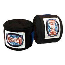 "New Combat Sports Semi-Elastic Boxing MMA Handwraps Hand Wrap Wraps 180"" - Black"