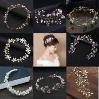 Jewelry Bridal Hairpin Crystal Headband Pearl Head Wear Rhinestone Headpiece