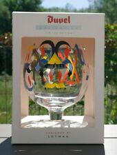 ♣RARE VERRE DUVEL collector LETMAN ARTISTE DUVEL GLASS GLAS LETMAN ARTIST DOOS♣