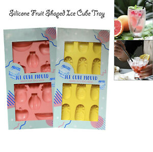 Silicone Ice Cube Tray Easy Pop Out Freezer Maker Jelly Fruit Shape Slots Mould