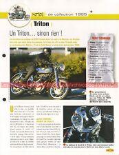 TRITON 750 TRIUMPH NORTON 1965 Joe Bar Team Fiche Moto #007515