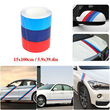 Stripe Racing Decals Auto Body Modified Sticker Emblems 3-Colored 6*39in For BMW