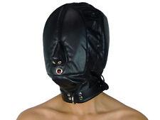 Isolationsmaske Ledermaske ohne Augenlöcher Leder Maske schwarz Art.Nr. 918