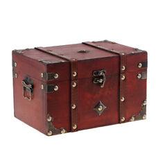 Boîte de rangement pour accessoire de coffre à trésor en bois vintage