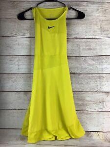 Nike Court Maria Sharapova Women's Citron Tennis Dress BV1066-733 Size Small
