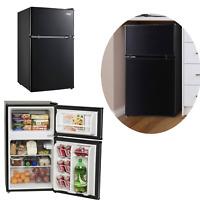 Refrigerator Mini Freezer Two Door 3.2 Cu Home Black Arctic King Adjustable