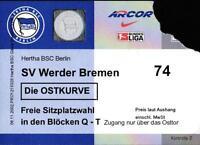 Ticket BL 2002/03 Hertha BSC - SV Werder Bremen, 23.11.2002