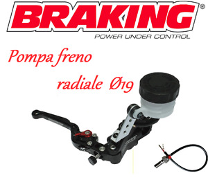 BRAKING POMPA FRENO RADIALE NERA  RS-B1 19mm UNIVERSALE MOTO