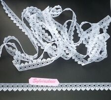 Picot Edge Single Sided Eyelet Lace  10 m x 15 mm     (Various     Colours)