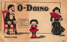 VTG 1907 COMIC POSTCARD Girl Interrupts Courtship NOTHING DOING ROMANCE /  A53