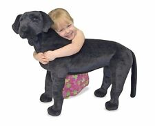 Labrador Retriever Stuffed Animal Plush Large Dog Black Kids Toys Very Soft New