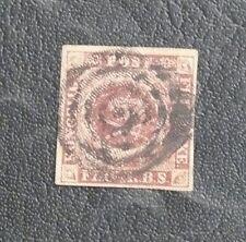 TIMBRES DU DANEMARK : 1854 YVERT N° 2b -  4 S. BRUN CLAIR Oblitéré - BE