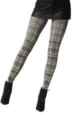 Pretty Polly Fashion Printed Tartan Tight Grey Mix - Pnawc1
