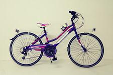 """BICI CITY BIKE Bicicletta MTB  RAGAZZA 24"""" e 26"""" cambio shimano 18v"""