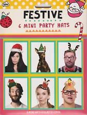 Festive Mini Party Hats Pack of 6
