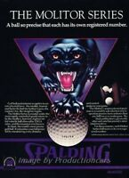 1976 Spalding Golf Ball Panther Molitor Original Advertisement Print Art Ad J860