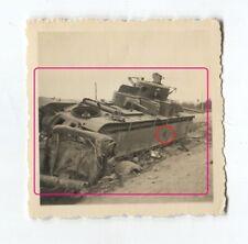 7/65 FOTO  RIESEN  Russischer Panzer  TANK  zerstört
