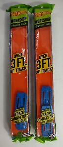 Hot Wheels / Matchbox Race Track Builder 3 foot or 90cm of Track Lot of 2!!