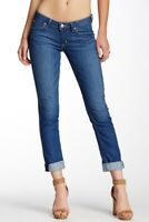Hudson Womens Jeans Bacara Crop Straight Leg Cuffed Size 25 with Flap Pockets