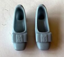Vintage 1960's Era Barbie Shoes - Light Blue Bow Pumps