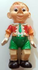 VINTAGE SQUEAK  BIG PUPAZZO PINOCCHIO RUBBER TOY LEDRA MADE IN ITALY 1960s H:41
