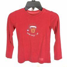 Good Kids Life Is Good Toddler Christmas Shirt Top Long Sleeve Size 2T/3T XXS