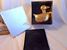 New in Box ~ TOZAI GOLD LEAF TIN METAL WIND UP TOY ~ DUCK ~ see my other's