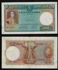 PORTUGAL BILLETE de 100 ESCUDOS. 13 Marzo 1941. Serie ADV 13151.