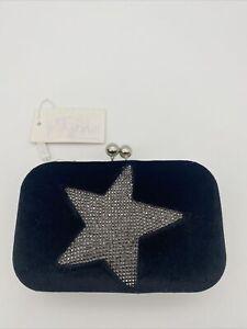 Shruti Smokey/blue Clutch Bag With Strap