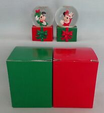 Disney Mickey Minnie Mouse JC Penney Mini Water Christmas Snowglobe Year 2001