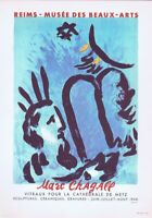 Marc Chagall Reims Musee Des Beaux Arts Poster Offset Lithograph Vintage 1966