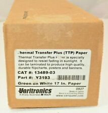 "Varitronics Thermal Transfer Plus Paper (17"") (green on white) 13489-03"