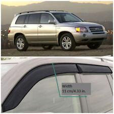 Wide Window Visors Side Guard Vent Deflectors For Toyota Highlander 2001-2007