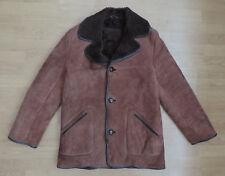 Para hombres De colección Richard Draper Shearling Chaqueta Larga Abrigo de piel de oveja marrón R6-29