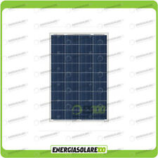 Pannello Solare Fotovoltaico 100W 12V Camper Barca Giardino impianto Baita